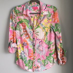 Lilly Pulitzer for Target Button down Shirt Small